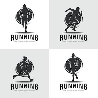 Collezione di design del logo in esecuzione