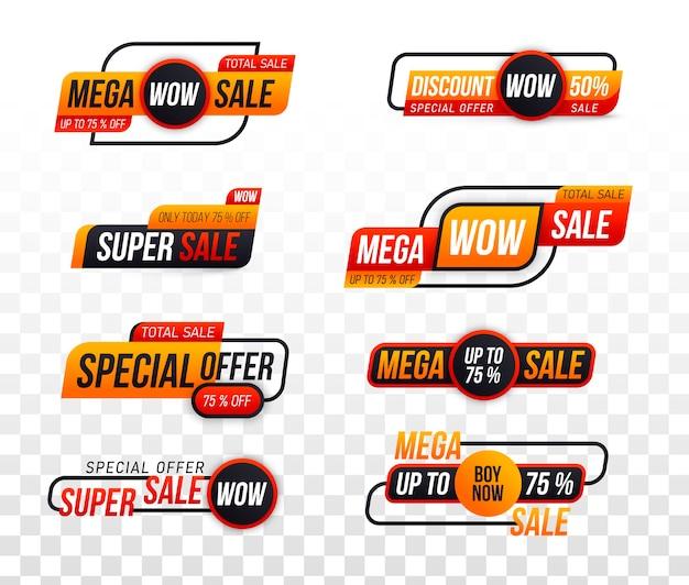 Collezione di badge di vendita