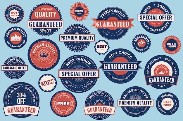 Collezione etichette di vendita. adesivi stile piatto di alta qualità per annunci e banner sui social media, badge per siti web, marketing, etichette e adesivi per modelli di shopping online.