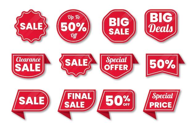 Collezione di etichette di vendita
