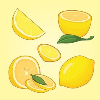 Raccolta di limoni a fette