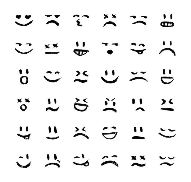 Raccolta di sorrisi ed espressioni d'umore