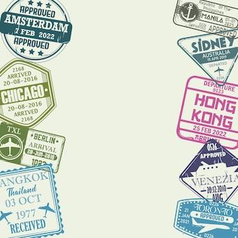 Francobolli da collezione di viaggio