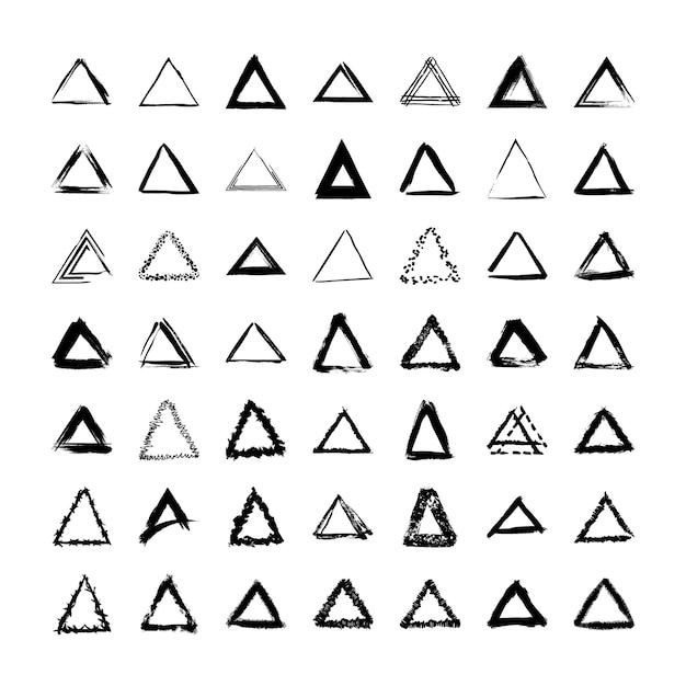 Collezione di cornici triangolari testurizzate