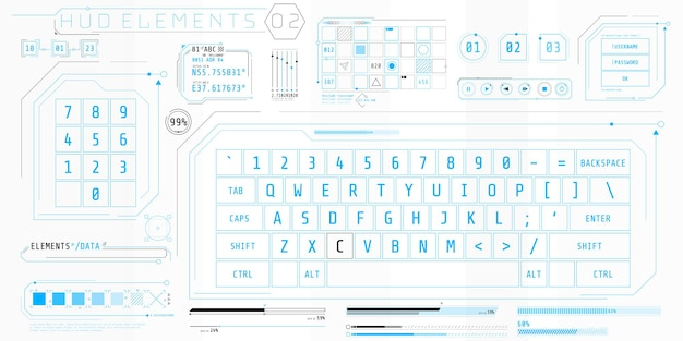 Una raccolta di elementi sottili per la progettazione di interfacce di computer e software.