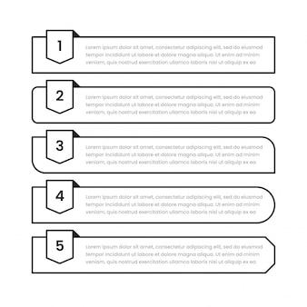 Raccolta di vari promemoria promemoria con numero in diverse forme.