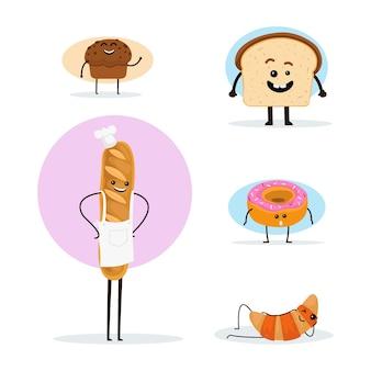 Una raccolta di vari personaggi di panini molto carini