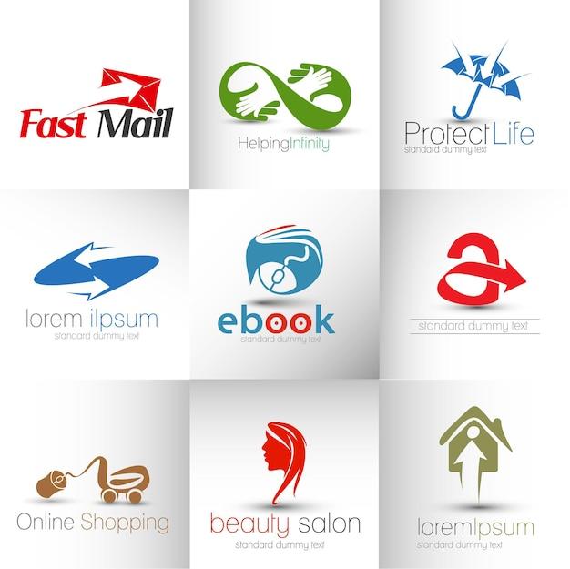 Collezione di design del logo vettoriale