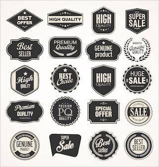 Collezione di etichette vintage per la vendita e le imprese