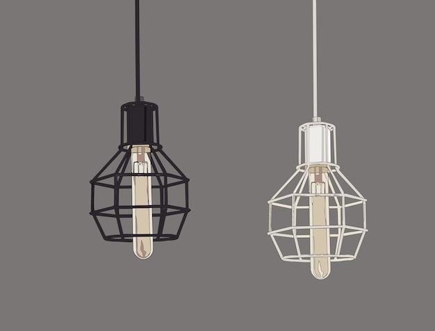 Collezione di lampade e lampadine vintage