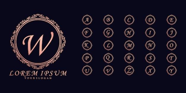 Collezione di loghi monogramma di nozze