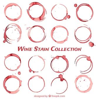 Raccolta di macchie di vino