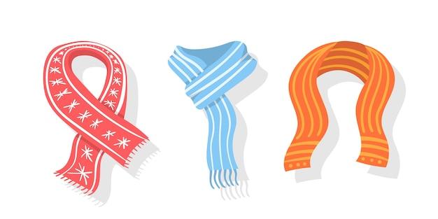 Collezione di sciarpa invernale o autunnale