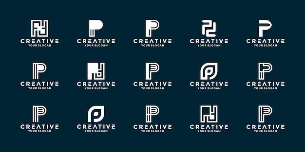 Collezioni lettera astratta p logo design logo aziendale