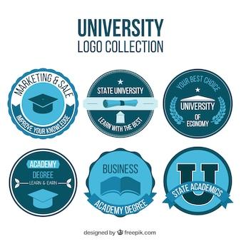 Loghi universitari in colore blu