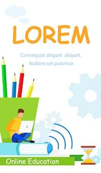 Flyer di lezioni online di college
