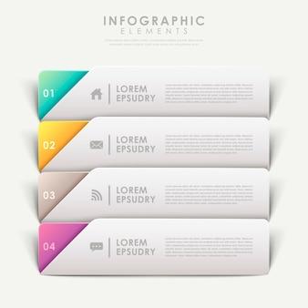 Coloful design moderno modello di banner elementi infografici