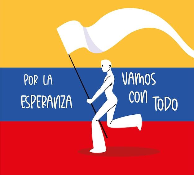 Bandiera di protesta della colombia