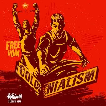 Concetto dell'illustrazione di colonialismo