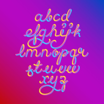 Carattere alfabeto 3d a colori