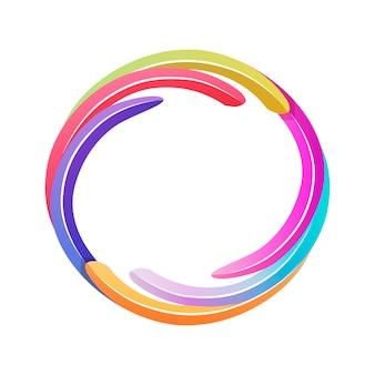 Avatar di gioco a colori, modello di cornice rotonda luminosa per l'interfaccia utente del gioco
