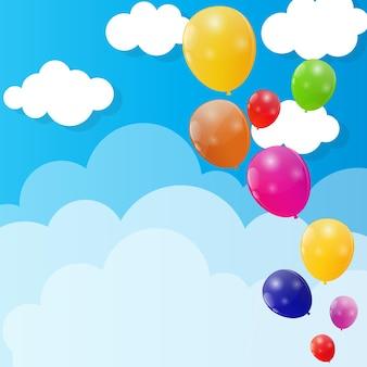 Colore lucido palloncini sfondo illustrazione vettoriale. eps10