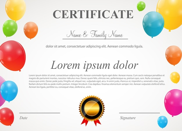 Colore lucido palloncini carta sfondo illustrazione vettoriale
