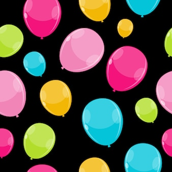 Colore lucido palloncini seamless pattern background vector illustra