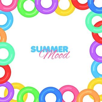 Colore telaio salvagente isolato summer mood