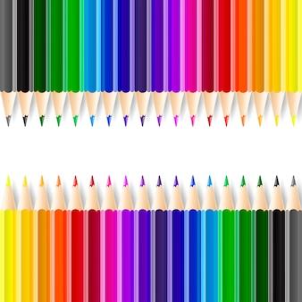 Matite colorate su sfondo bianco