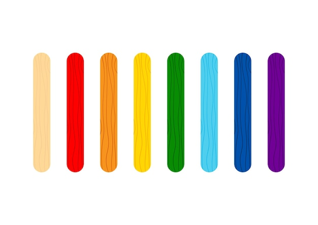 Stick ghiacciolo colorato per gioco o set gelato.