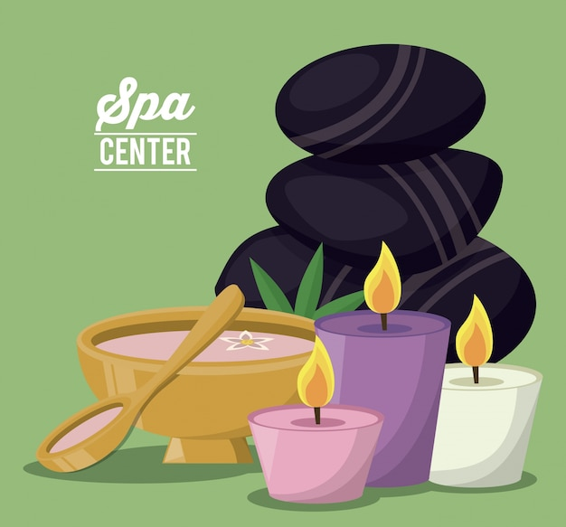 Poster a colori del centro benessere
