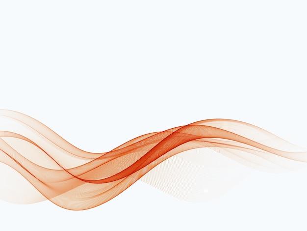 Elemento onda di colore rosso. linea ondulata rossa flusso d'onda rosso