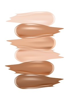 Palette di sfumature di colore per fondotinta cosmetici per il trucco per poster banner