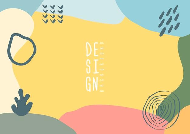 Spruzzata di colore astratto sfondo cartone animato o elemento di design banner parco giochi per bambini. sovrapposizione vettoriale motivo chiazzato colorato di forma geometrica, linea e punto in stile memphis alla moda anni '80-'90