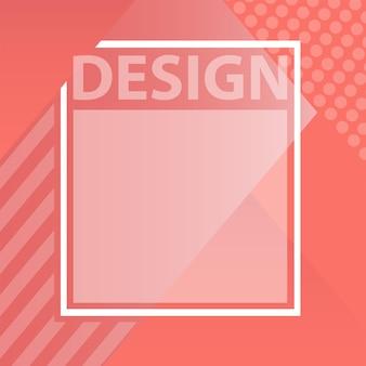 Colore dell'anno. tavolozza di tendenza dei colori. campione corallo vivente. disegno di illustrazione vettoriale per pubblicità, post di blog, volantini, striscioni, poster, cartoline. modello vettoriale