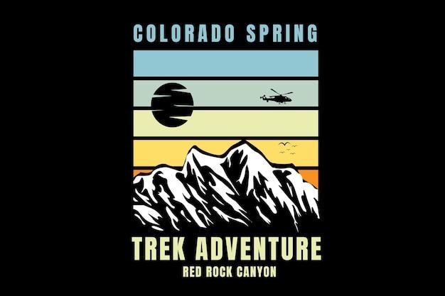 Colorado spring trek adventure the rock canyon color verde chiaro e giallo