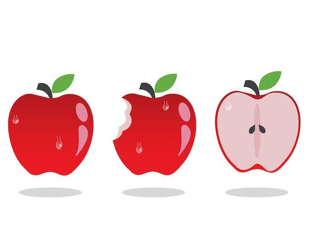 Disegno vettoriale di mela colorata. buono e ottimo per banner e istruzione