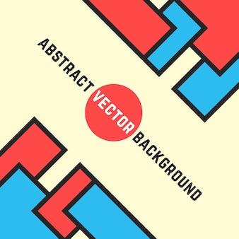 Sfondo colorato da figure geometriche. concetto di carta intestata, stampa angolare, pubblicità, mosaico, intestazione, calendario di copertina. illustrazione vettoriale di design moderno di tendenza in stile piatto