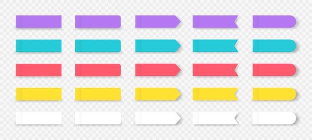 Segni colorati del libro e del taccuino