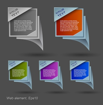 Bolle colorate, elemento web design