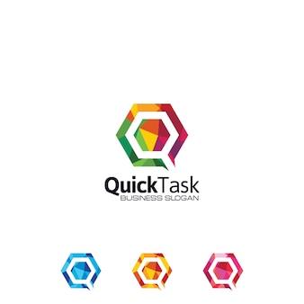 Logo colorato lettera q