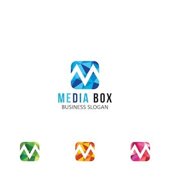 Logo della lettera m. colorata