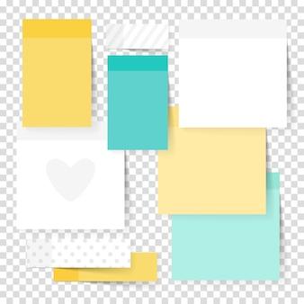 Set di adesivi colorati di nota