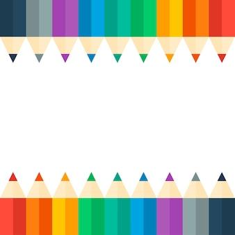 Set colorato luminoso di matite colorate