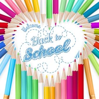 Sfondo di matite colorate.