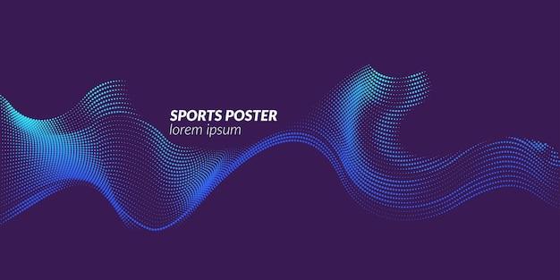Poster colorato per lo sport. illustrazione adatta per il design