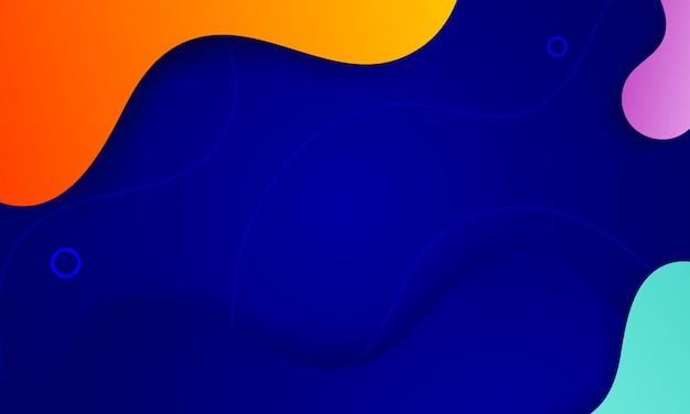 Lustro di geometria di sfondo astratto colorato e elemento di strato