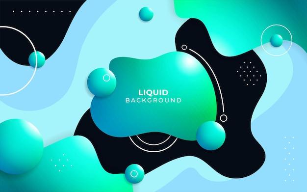 Fondo di vettore di forma di gradiente geometrico fluido astratto colorato