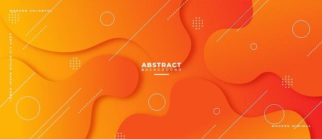 Banner geometrico astratto colorato composizione di forme fluide.